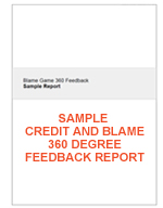 Sample Custom Credit and Blame 360 Degree Feedback Report